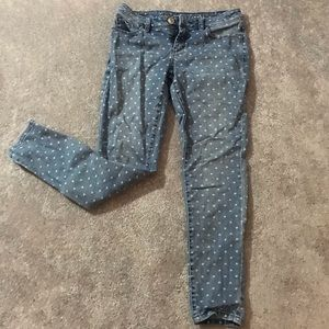 Lauren Conrad. Size 4. Heart Printed Skinny Jeans